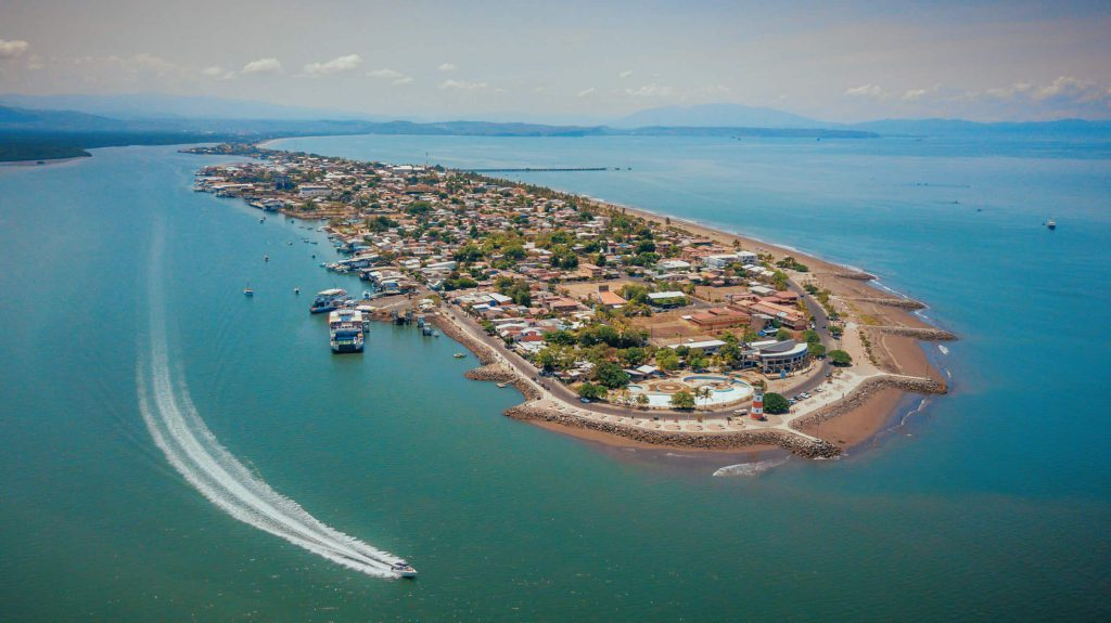 Aerial view of Puntarenas.